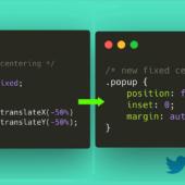 CSSで上下左右の中央に配置する時の「position: fixed;」での新しい記述方法