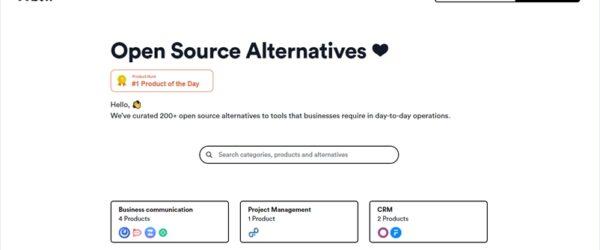 よく使われるビジネスツールのオープンソースな代替アプリを200以上収集している・「Open Source Alternatives」