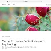Googleデベロッパーが解説、Webページに画像の遅延読み込みを使いすぎるとパフォーマンスに悪影響を与える