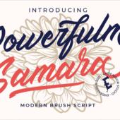 ロゴのデザインにぴったりな有料フォントが今だけ無料!疾走感のあるストロークがかっこいい -Powerfulm Samara