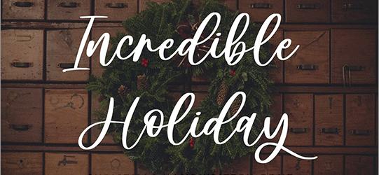 今週末まで有料フォントが無料!かわいいデザインにぴったりな手書きフォント -Incredible Holiday