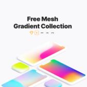 iOSの背景っぽい画像が色々と入手できる「Free Mesh Gradient Collection」