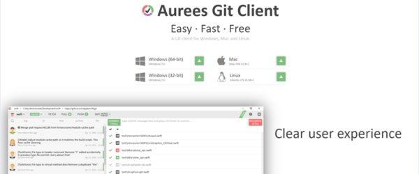クロスプラットフォーム対応のシンプルなGitクライアント・「Aurees Git Client」