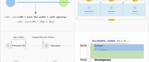 CSS flexboxで実装する、レスポンシブ対応のステップのコンポーネントを解説