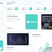 CHAKRA UIベースのオープンソースの管理画面テンプレート・「Purity UI Dashboard」